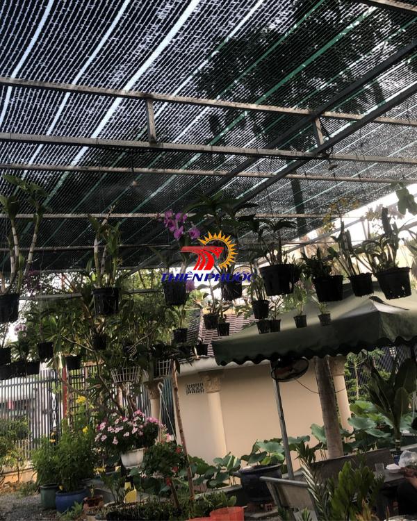 lưới che nắng quán cafe